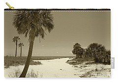 Sepia Beach Carry-all Pouch by Jeanne Forsythe