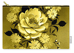 Sepia Bouquet Carry-all Pouch