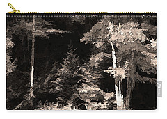 Sepia Forest Carry-all Pouch by Betsy Zimmerli