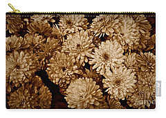 Sepia Mums Carry-all Pouch