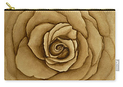 Carry-all Pouch featuring the painting Sepia Rose by Kelly Mills
