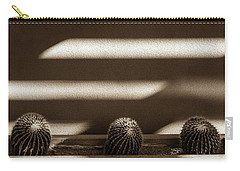 Carry-all Pouch featuring the photograph Sepia Stucco Shadows by Glenn DiPaola