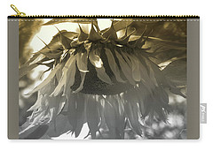 Sensational In Sepia - Sunflower - Images From The Garden - Floral Photography Carry-all Pouch