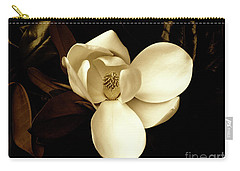 Sepia-toned Magnolia Carry-all Pouch