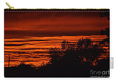 Carry-all Pouch featuring the photograph September Kansas Sunset by Mark McReynolds