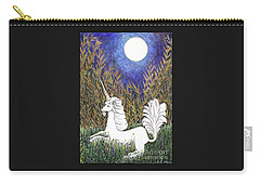 Carry-all Pouch featuring the painting September Unicorn by Lise Winne