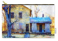 Carry-all Pouch featuring the photograph September's Song - Yellow Farmhouse  by Janine Riley