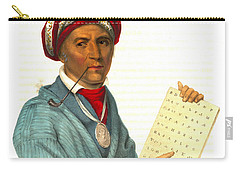 Carry-all Pouch featuring the photograph Sequoyah 1838 by Padre Art
