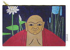 Carry-all Pouch featuring the painting Serene Buddha by Hilda and Jose Garrancho