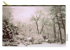 Carry-all Pouch featuring the photograph Serene In Snow by Jessica Jenney