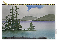 Serene Morning On Lake Superior Carry-all Pouch