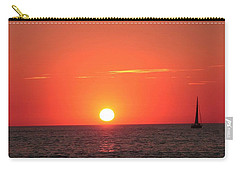 Serene Sailboat Sunset Carry-all Pouch
