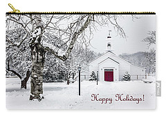 Serene Snowy Chapel - Happy Holidays Carry-all Pouch