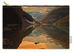 Carry-all Pouch featuring the photograph Serene Waters At Lake Louise by Tara Turner