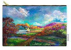 Serenely Sailing  Navegando Serenamente Carry-all Pouch
