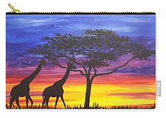 Serengeti Sunset Carry-all Pouch by Darren Robinson