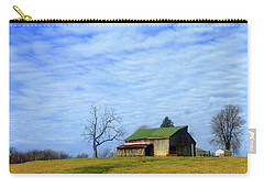 Serenity Barn And Blue Skies Carry-all Pouch by Tina M Wenger