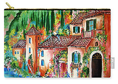 Carry-all Pouch featuring the painting Serenity By The Lake by Roberto Gagliardi