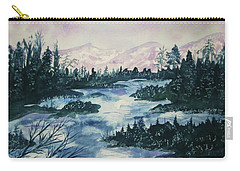 Carry-all Pouch featuring the painting Serenity IIi by Ellen Levinson