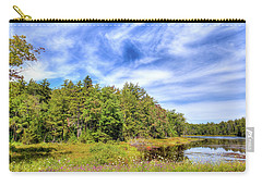 Carry-all Pouch featuring the photograph Serenity On Bald Mountain Pond by David Patterson