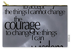 Carry-all Pouch featuring the photograph Serenity Prayer 05 by Vicki Ferrari