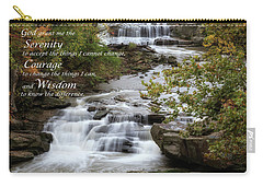 Carry-all Pouch featuring the photograph Serenity Prayer by Dale Kincaid