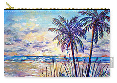 Serenity Under The Palms Carry-all Pouch by Lou Ann Bagnall