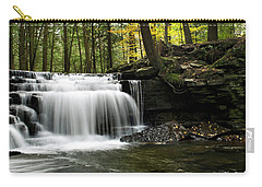 Carry-all Pouch featuring the photograph Serenity Waterfalls Landscape by Christina Rollo