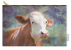 Carry-all Pouch featuring the mixed media Serious Business by Colleen Taylor