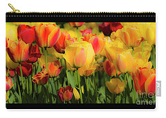 Carry-all Pouch featuring the photograph Seriously Spring - Bordered by Wendy Wilton
