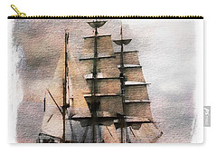 Carry-all Pouch featuring the painting Set Sail by Aaron Berg