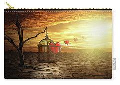 Carry-all Pouch featuring the digital art Set Your Self Free by Nathan Wright