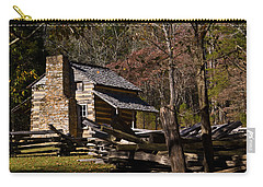 Settlers Cabin Cades Cove Carry-all Pouch