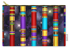 Carry-all Pouch featuring the digital art Seven by Andreas Thust