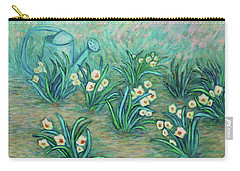 Carry-all Pouch featuring the painting Seven Daffodils by Xueling Zou