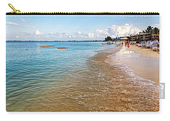 Carry-all Pouch featuring the photograph Seven Mile Beach by Lars Lentz