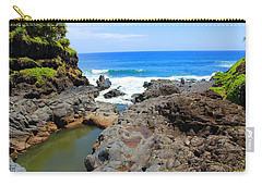 Carry-all Pouch featuring the photograph Seven Sacred Pools Of Maui by Michael Rucker