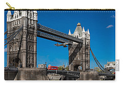 Carry-all Pouch featuring the photograph Seven Seconds - The Tower Bridge Hawker Hunter Incident  by Gary Eason