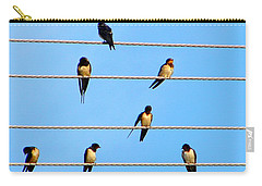 Seven Swallows Carry-all Pouch by Ana Maria Edulescu