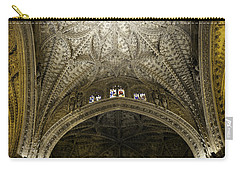 Carry-all Pouch featuring the photograph Seville Cathedral - Looking Up by Madeline Ellis