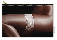 Sexy Nude Black Woman Body Sensual Closeup Carry-all Pouch