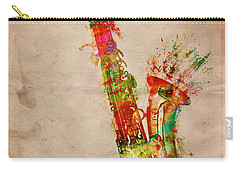 Carry-all Pouch featuring the digital art Sexy Saxaphone by Nikki Smith
