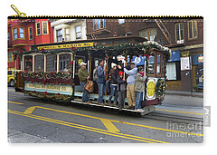 Carry-all Pouch featuring the photograph Sf Cable Car Powell And Mason Sts by Steven Spak