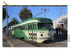 Carry-all Pouch featuring the photograph Sf Muni Railway Trolley Number 1006 by Steven Spak