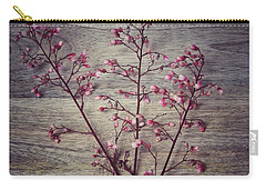 Shabby Chic Coral Bell Flowers Carry-all Pouch