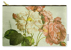 Shabby Chic Pink And White Peonies Carry-all Pouch