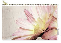 Shabby Pink Daisy Petals Dreamy Soft Romantic Floral Carry-all Pouch