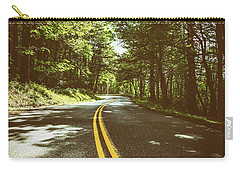 Shaded Winding Oregon Road  Carry-all Pouch
