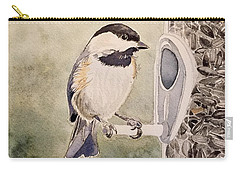 Shades Of Black Capped Chickadee Carry-all Pouch