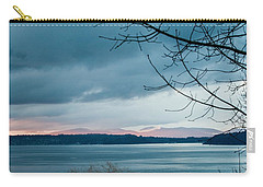 Shades Of Blue As Night Falls Carry-all Pouch